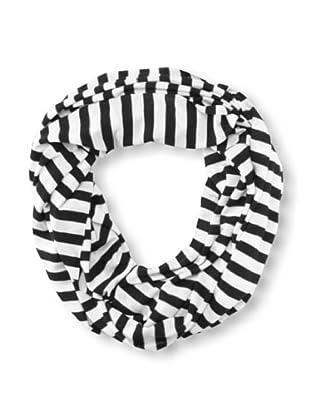 Raj Imports Women's Striped Infinity Scarf (Black/White)