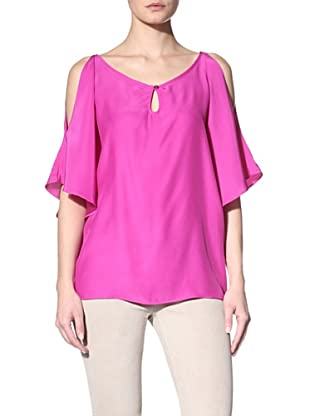 Drew Women's Coco Open-Shoulder Blouse (Fuchsia)