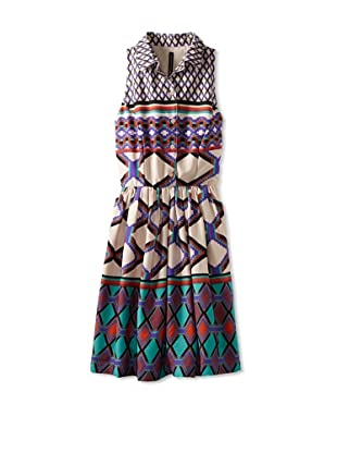 W118 by Walter Baker Women's Joey Print Dress (Aztec Diamond)