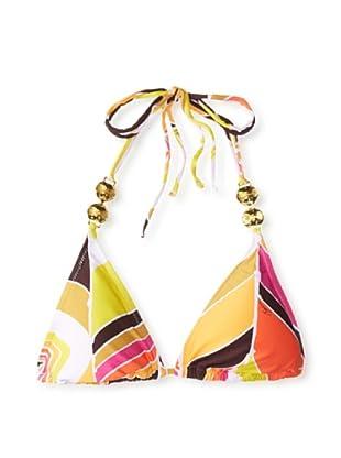 Trina Turk Women's Carmel By The Sea Triangle Bikini Top (Tangerine)