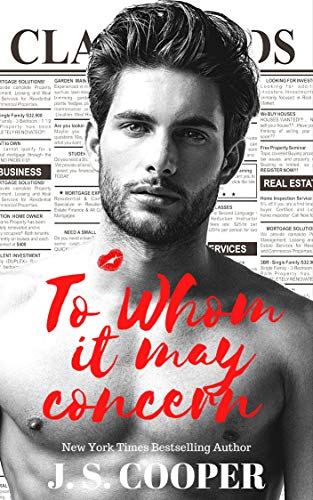 To Whom it May Concern (The Hart Duet Book 1) J. S. Cooper