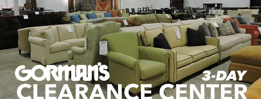 closeout living room furniture grey rug ideas clearance center gorman s farmington mi 48335
