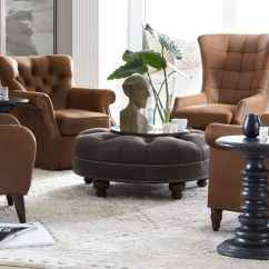 Living Room Leather Chairs And Tables Rentals Recling Bradington Young