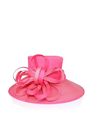 Giovannio Women's Shantung & Woven Bow Hat (Watermelon)
