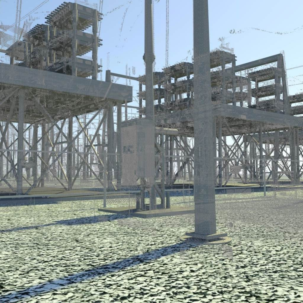 3D Scan of Electrical DIstribution Yard