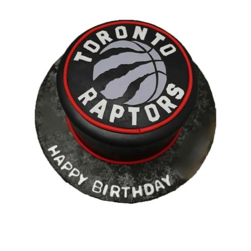 Raptor Black Velvet Cake