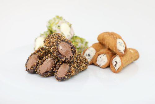 Assortment of Sicilian Cannoli