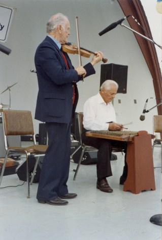 Nick Mischi performs. Photo courtesy of the Provincial Archives of Alberta PR2014.2204.0035.0001.