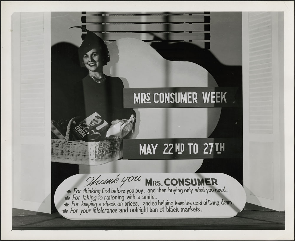 Thank You Mrs. Consumer, 1966-093 NPC MIKAN 4238793. Photo courtesy of the Library & Archives Canada.