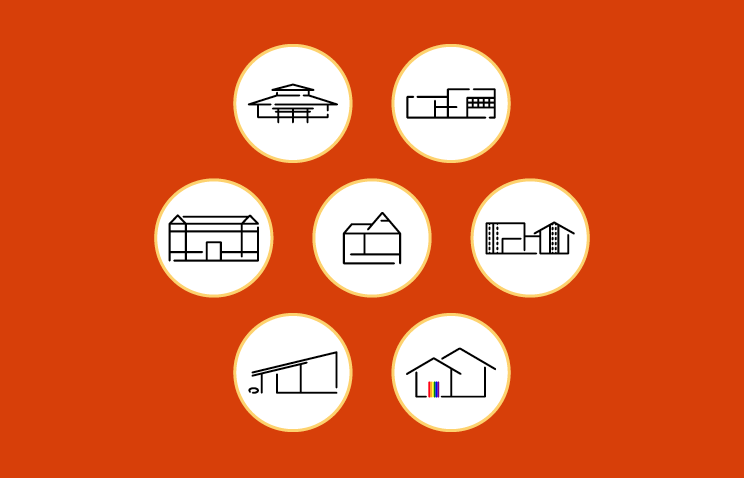 An image showing the individual icons of all of seven of Oregon State University's cultural resource centers