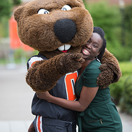 Secota traveled to Oregon State's campus to walk in the 2017 commencement ceremony.