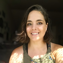A photo of Alina Padilla-Miller, an instructor and the online program coordinator for Oregon State University's New Media Communications program. She is involved in the digital communication arts bachelor's program