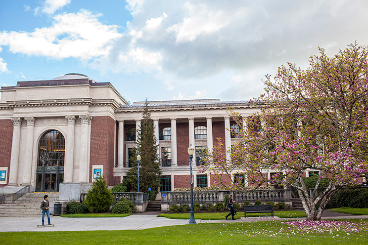 The front of the Memorial Union building on Oregon State University's Corvallis campus.