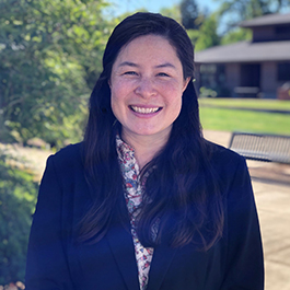 A headshot of Sara Caldwell-Kan, the interim director of Oregon State's Asian & Pacific Cultural Center.