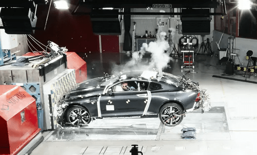 Crash Testing Success for The Volvo Polestar