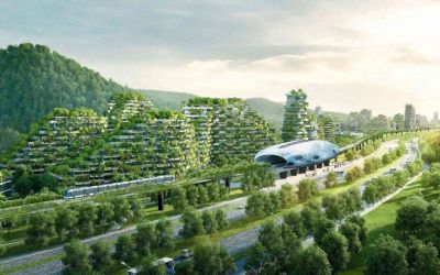 Futuristic Green City in China