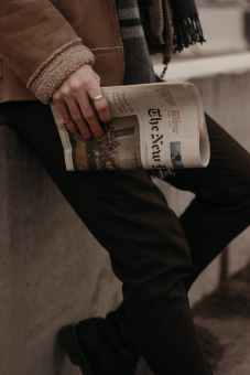 this picture shows a person holding a newspaper, representing the bad news of being furloughed. He's looking for full-time work, and this is Chapter 2 of the series.