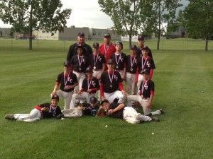The East Central Bulls won gold at the AA Alberta Championship in Okotoks July 25 - 28. This year the team comprised of: (L - R) Front row: Mason Love-Hollman (Red Deer), Chase Logan (Oyen), Gage Nelson (Hardisty). Middle row: Brandon Buxton (Amisk), Brooke Fawcett (Consort), Damon Zimmer (Heisler), Greg Nelson (Veteran). Back row:Teryll Sherman (Forestburg), Brendan Logan (Oyen), Gavin Logan (Oyen), Hayden Schetzsle (Veteran), Carver Zimmer (Coronation). Coaches: Brad Zimmer (Assistant coach), Graham Schetzsle (Head coach) and Barry Logan (Assistant coach).
