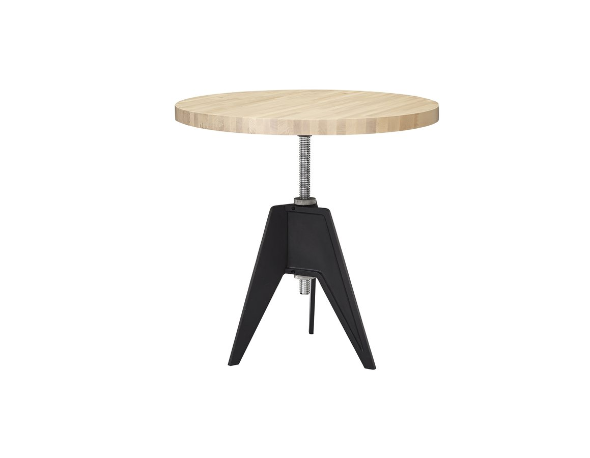 cast iron table and chairs nz transport chair birch small round top screw base by tom dixon  ecc