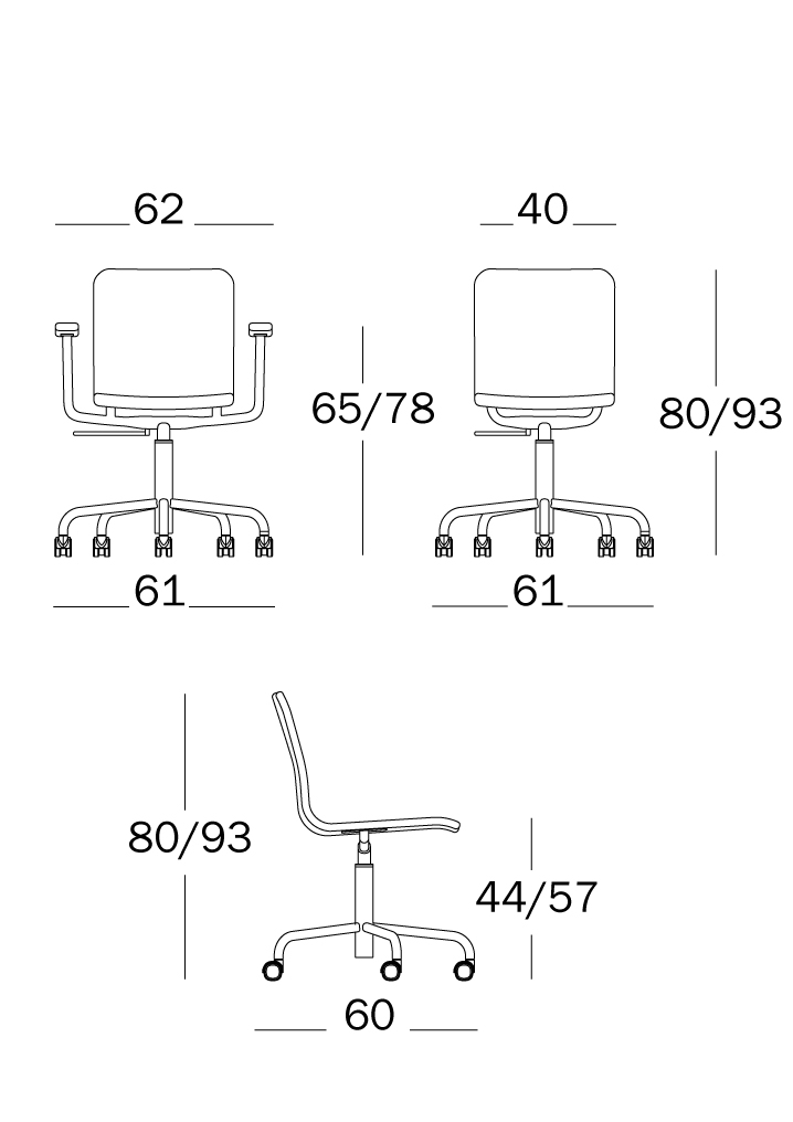 office chair diagram fishing second hand soho by magis ecc integral polyurethane application size specifications