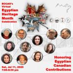 Egyptian Heritage Month Celebration - Jul 11, 2020 (Virtual)