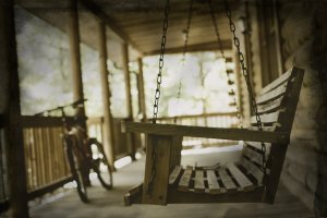 Picture of porch swing