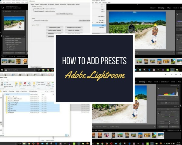 How to add presets to lightroom
