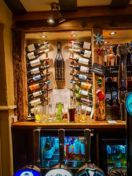 Bar Wine selection - White Horse Shere