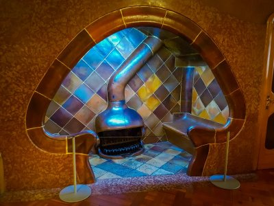 Fireplace at casa batllo barcelona