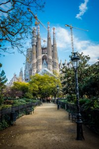 Sagrada Familia view from the park
