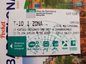 T-10 ticket Barcelona Your Guide to Public Transport in Barcelona - How to get around