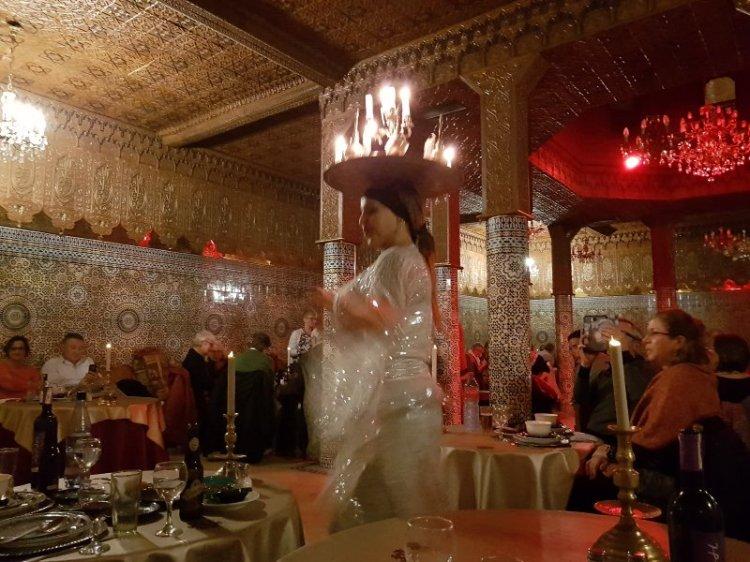 Marrakech City Break Dancing at the restaurant