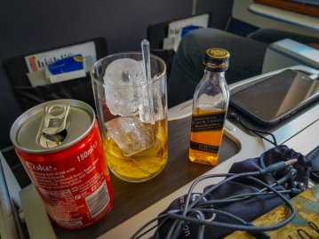 Drinks on board BA Club Europe