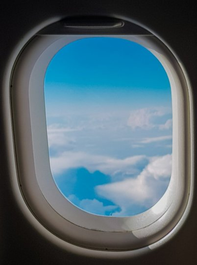 View from plane window