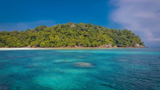 Snorkelling at abang Island in indonesia