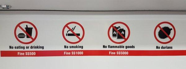 No stinky durians
