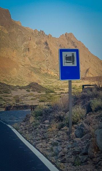 Viewpoint sign - Mount Teide Tenerife