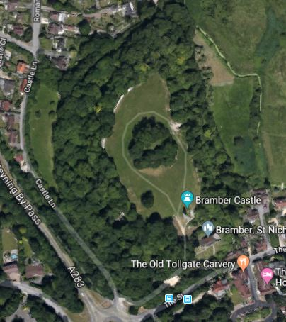 Bramber Castle Ruins, Satellite view