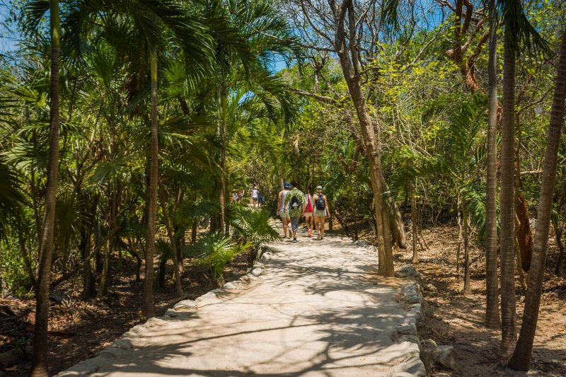 Follow the paths to the Tulum Ruins