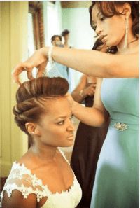 natural hair on wedding day | Eccentric GLOW