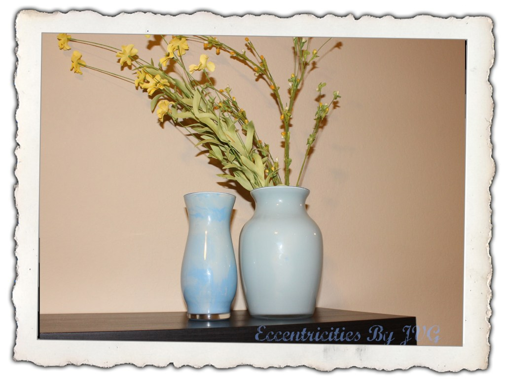 Multi-color painted vases