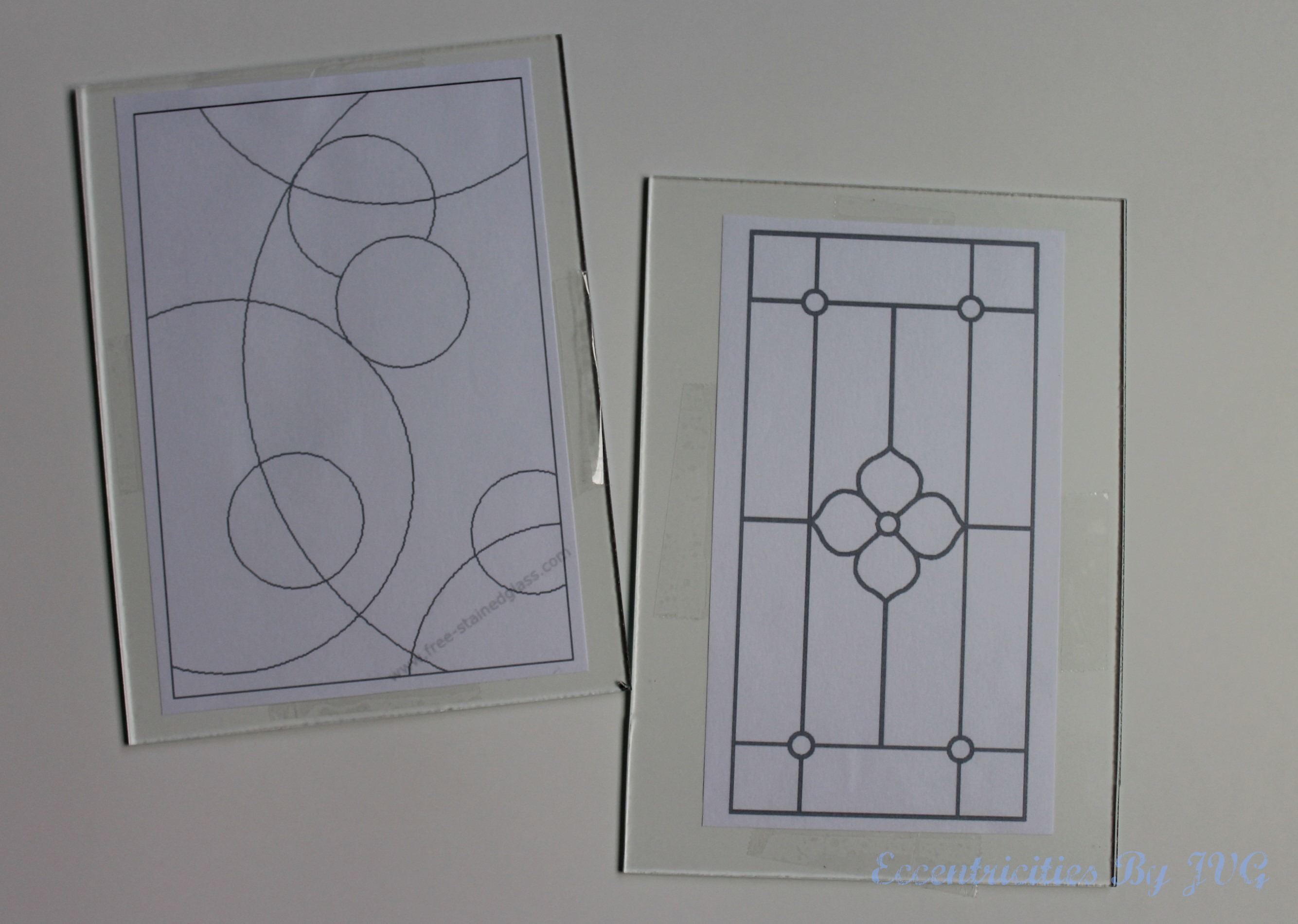 stained glass wall art patterns