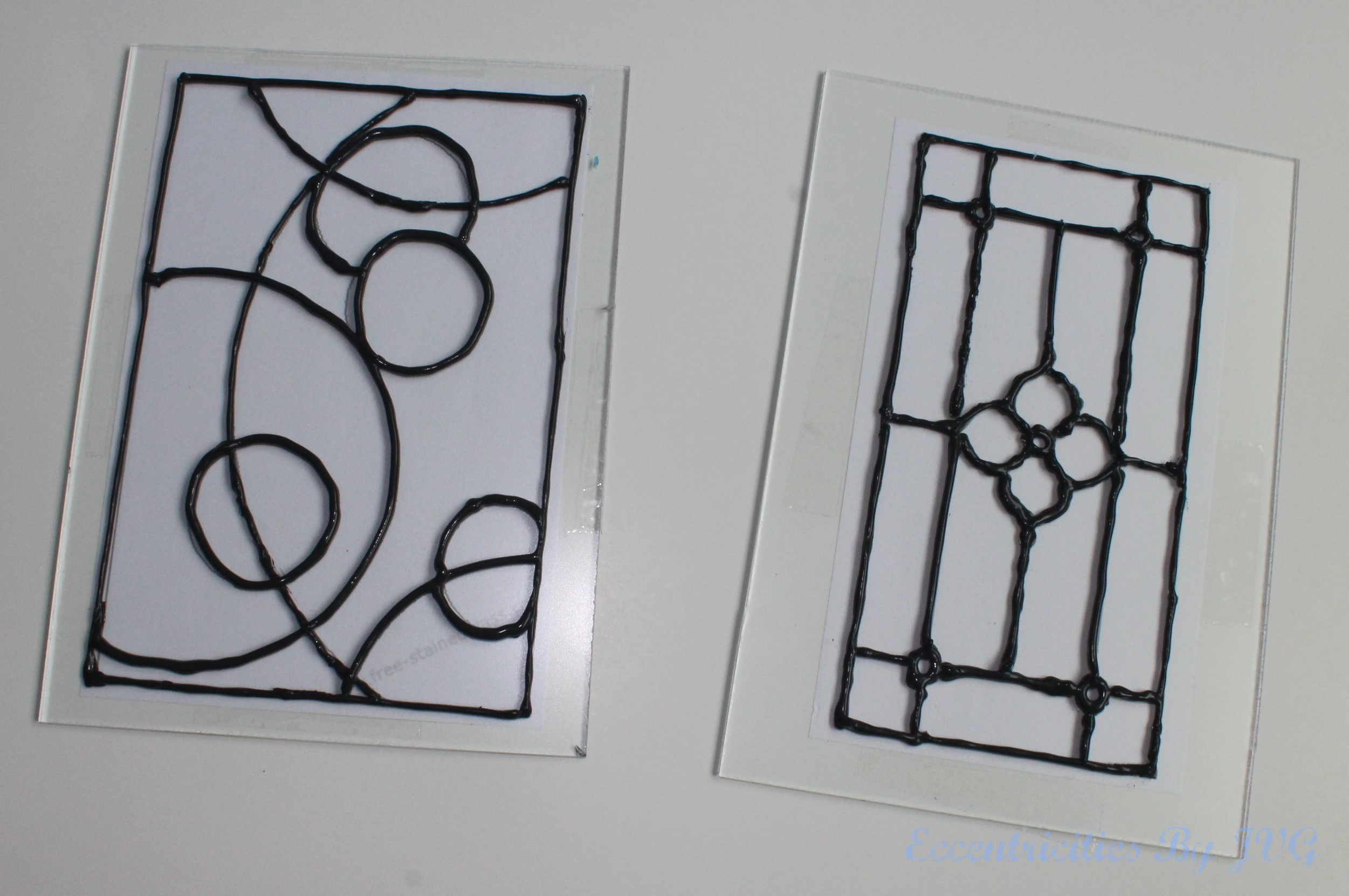 apply the leading to the stain glass art