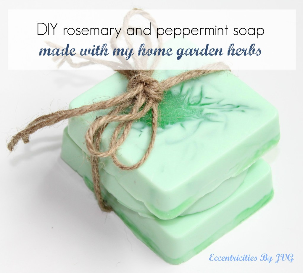 rosemary and peppermint DIY homemade soap with garden herbs how to