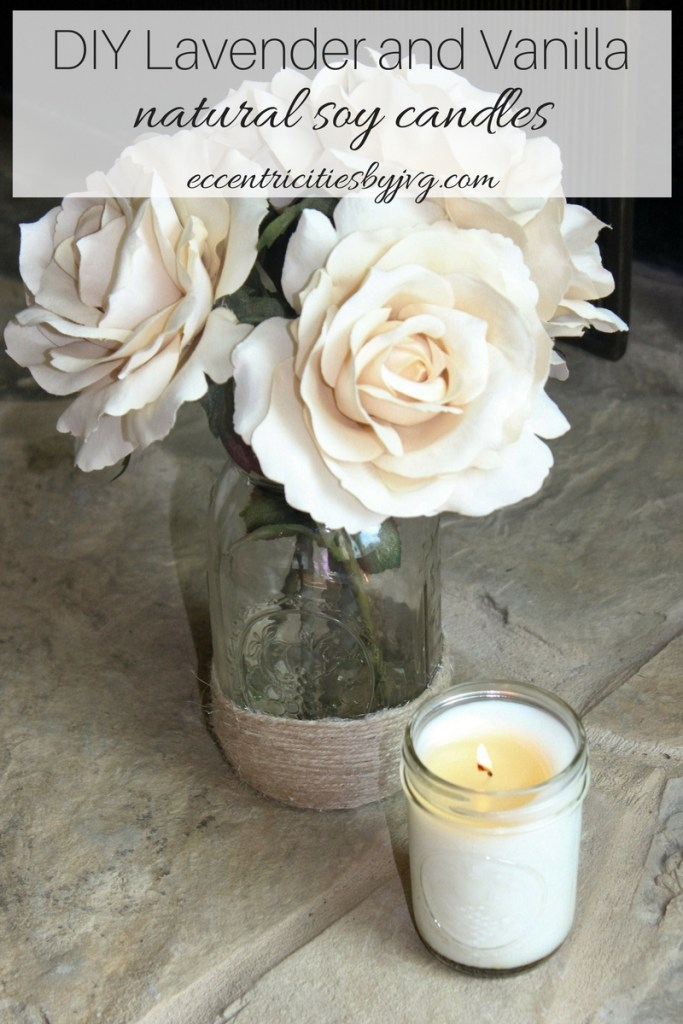 DIY Lavender and Vanilla natural soy candles