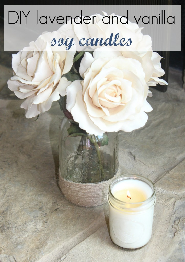 DIY soy candle in lavender and vanilla how to