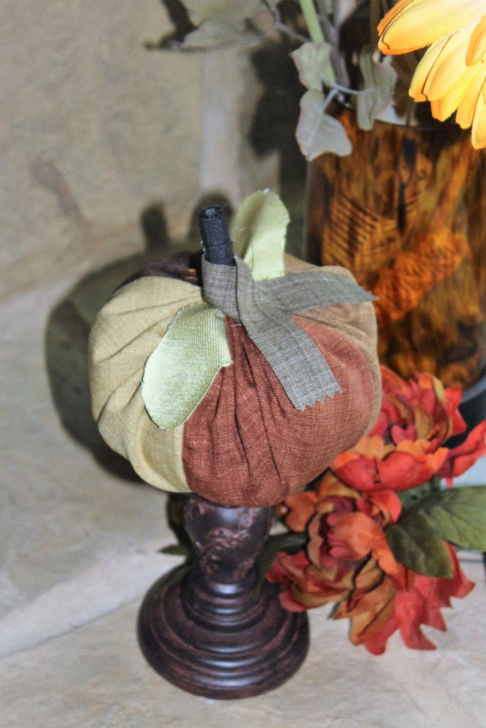 beautiful browns quilted fabric pumpkin