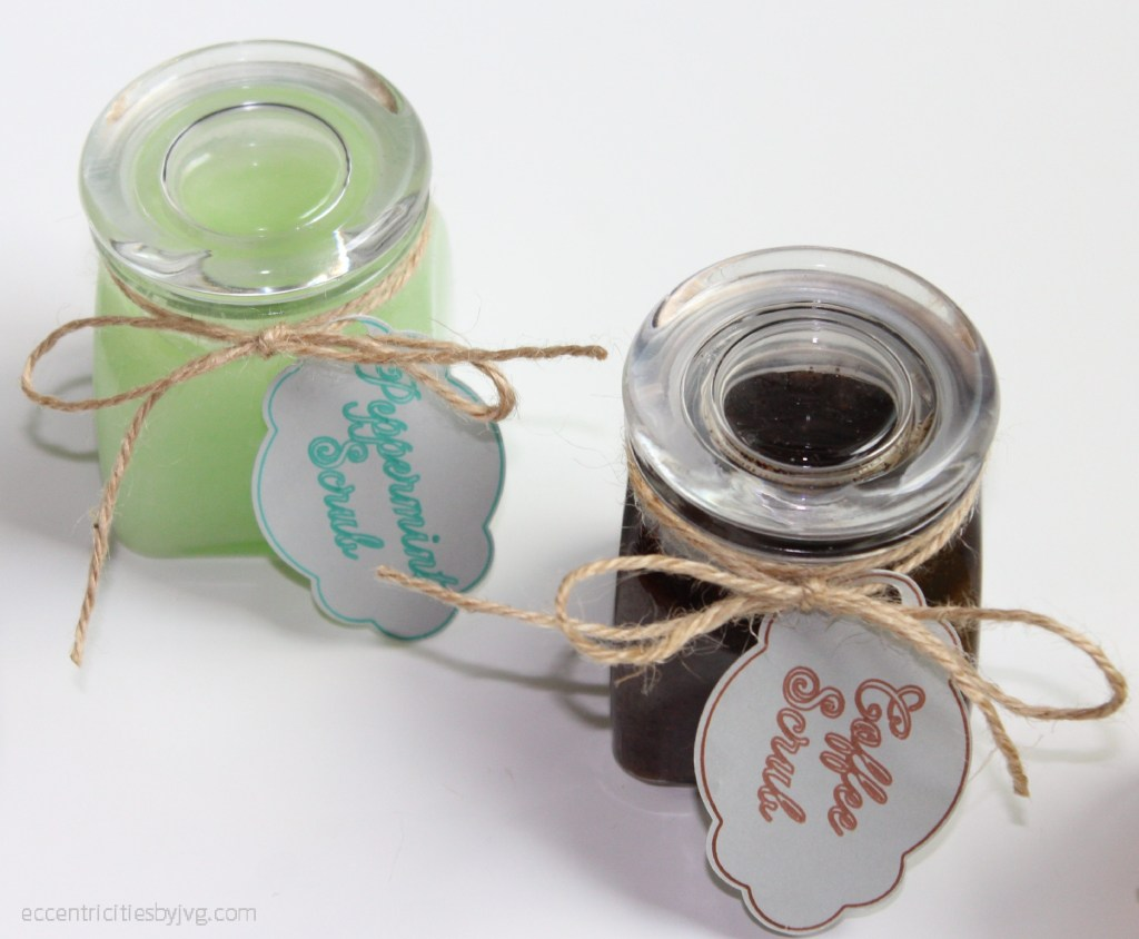 peppermint and cofee sugar scrubs