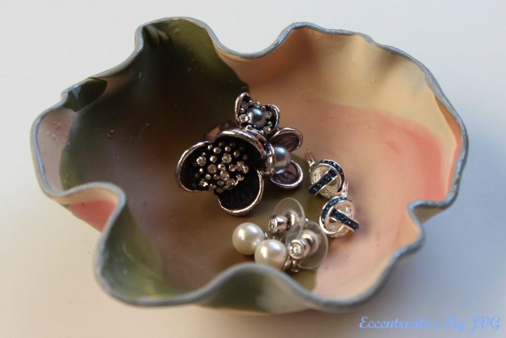 marbled clay jewelry dish idea 1