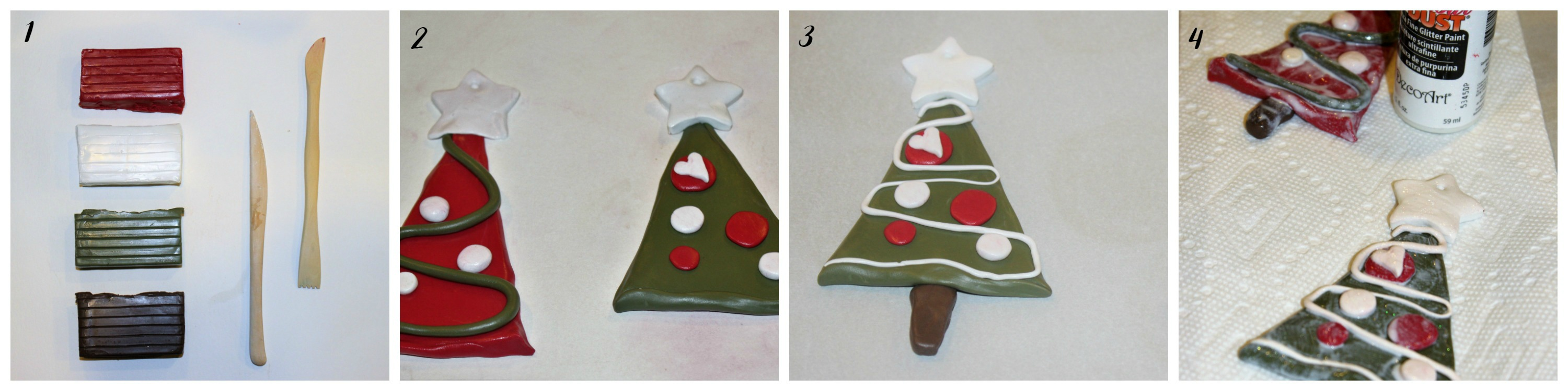 Christmas clay ornaments steps